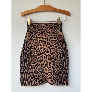 XXS, BCBGMaxAzria, leopard print bodycon skirt